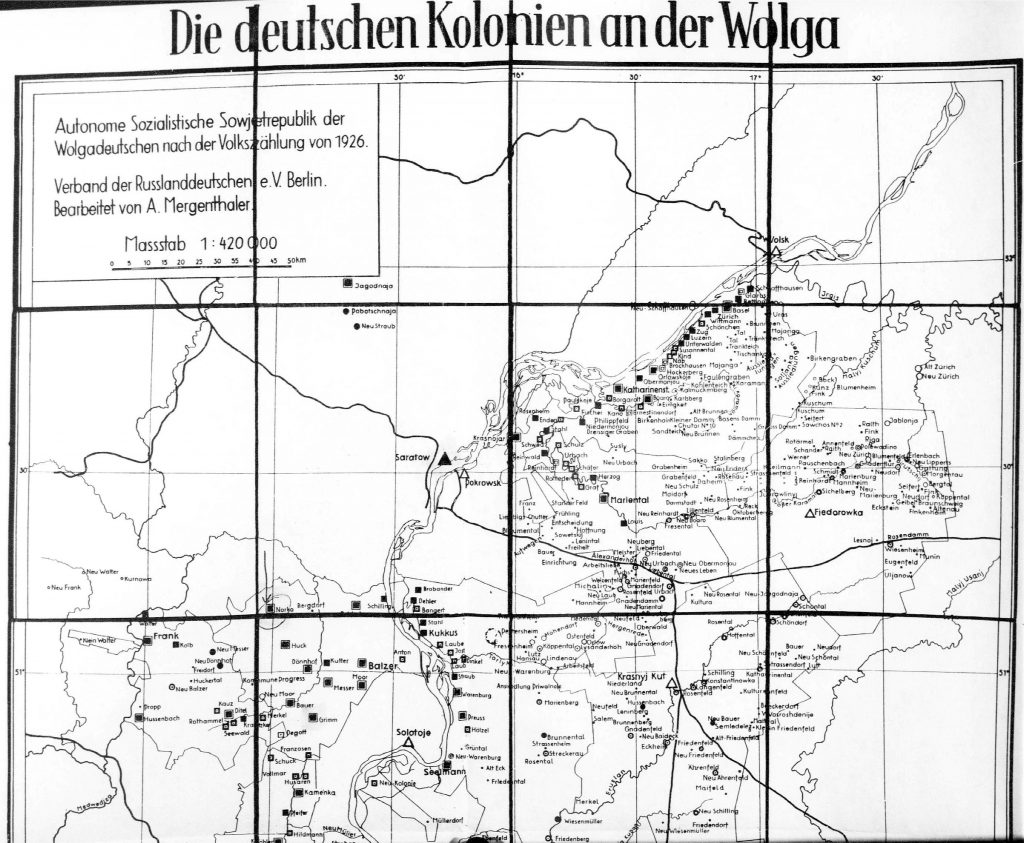 German Settlements on the Volga River 1926
