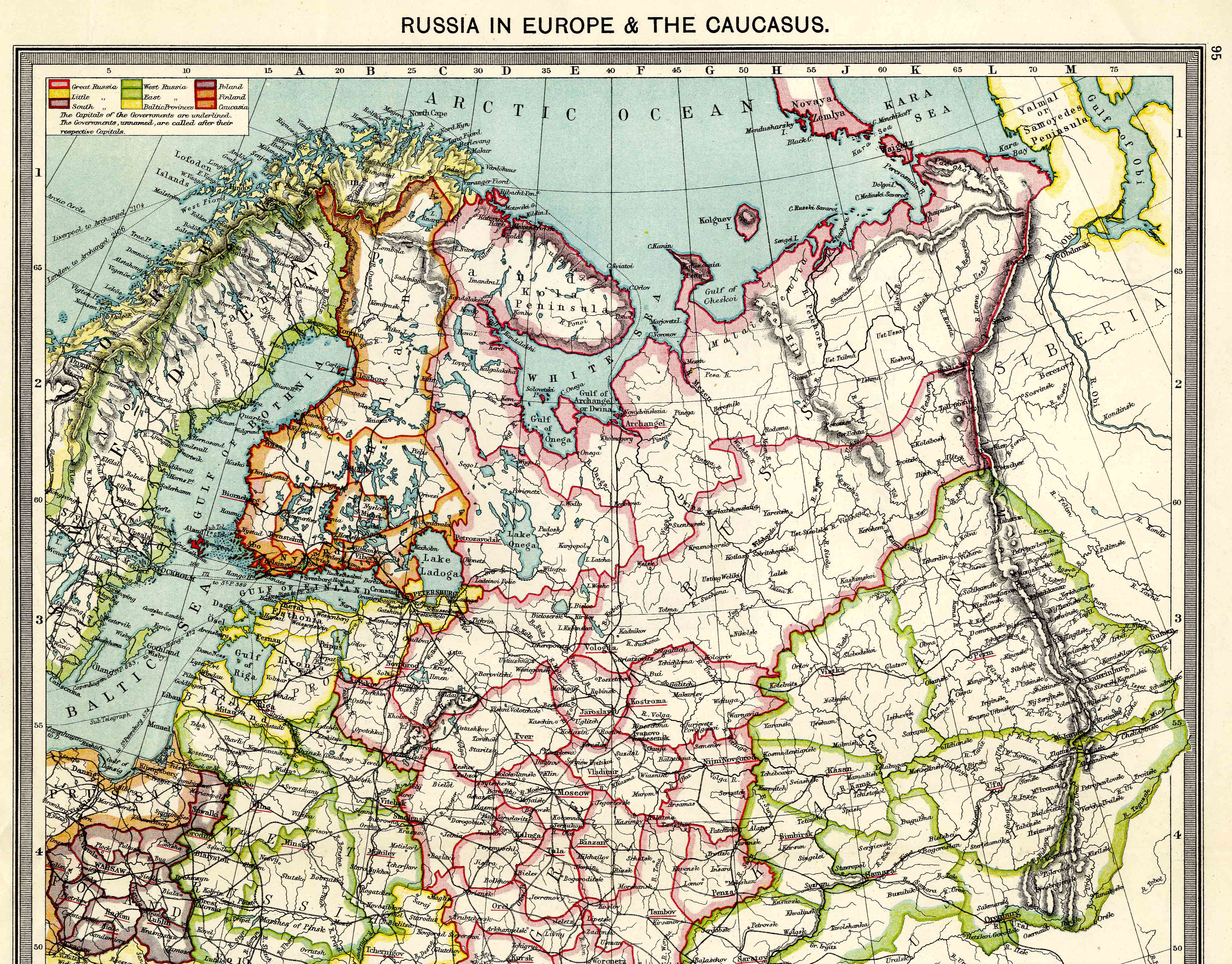 Map Of Russia In Europe.Russia In Europe North 1908 Feefhs