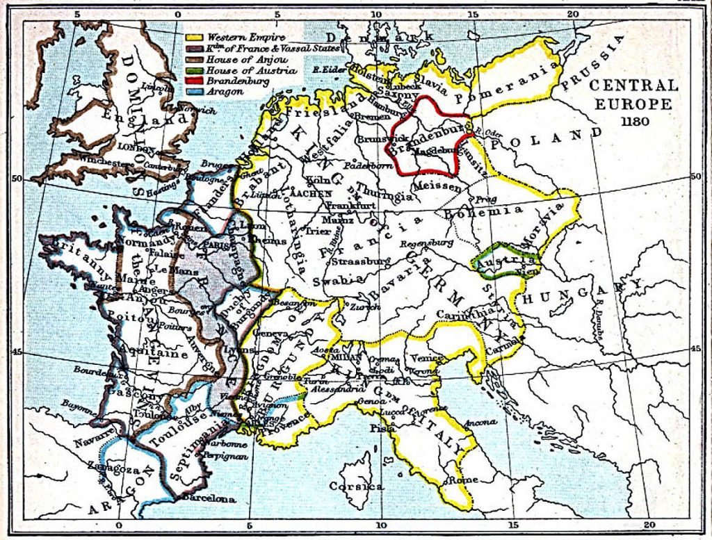 Map Of Europe In 1871.Central Europe 980 1871 Feefhs