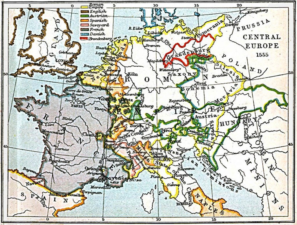 Central Europe in 1555