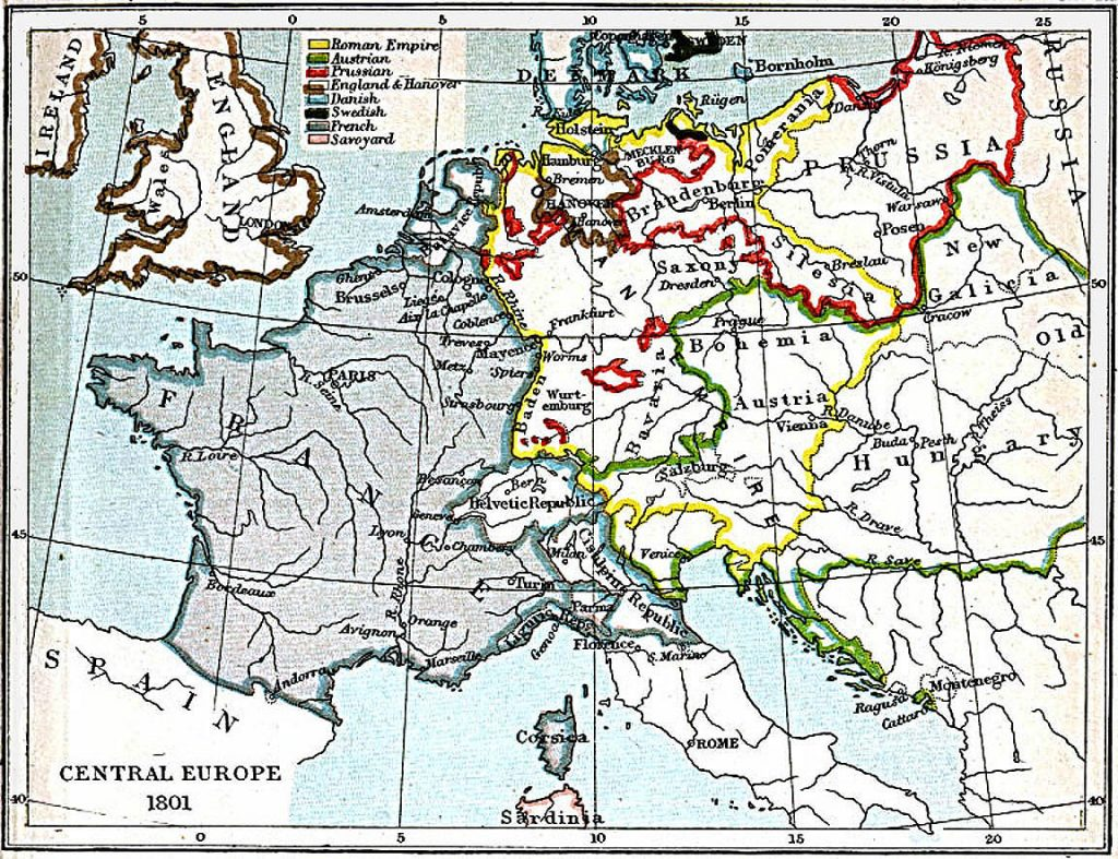 Central Europe in 1801