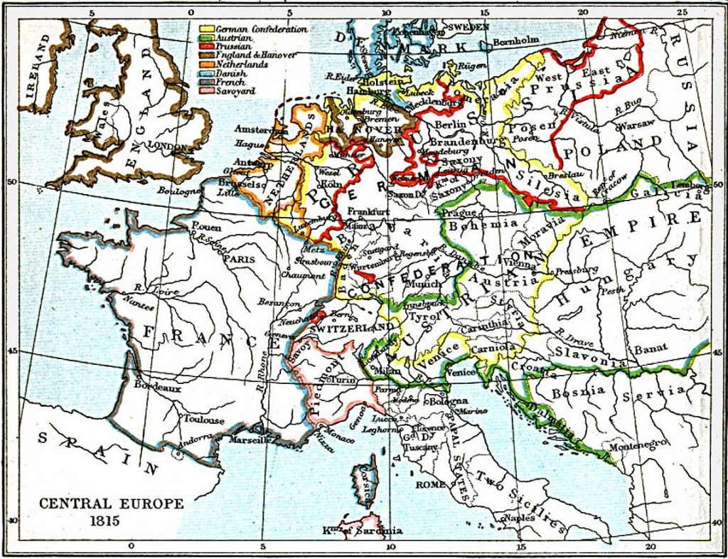 Central Europe in 1815