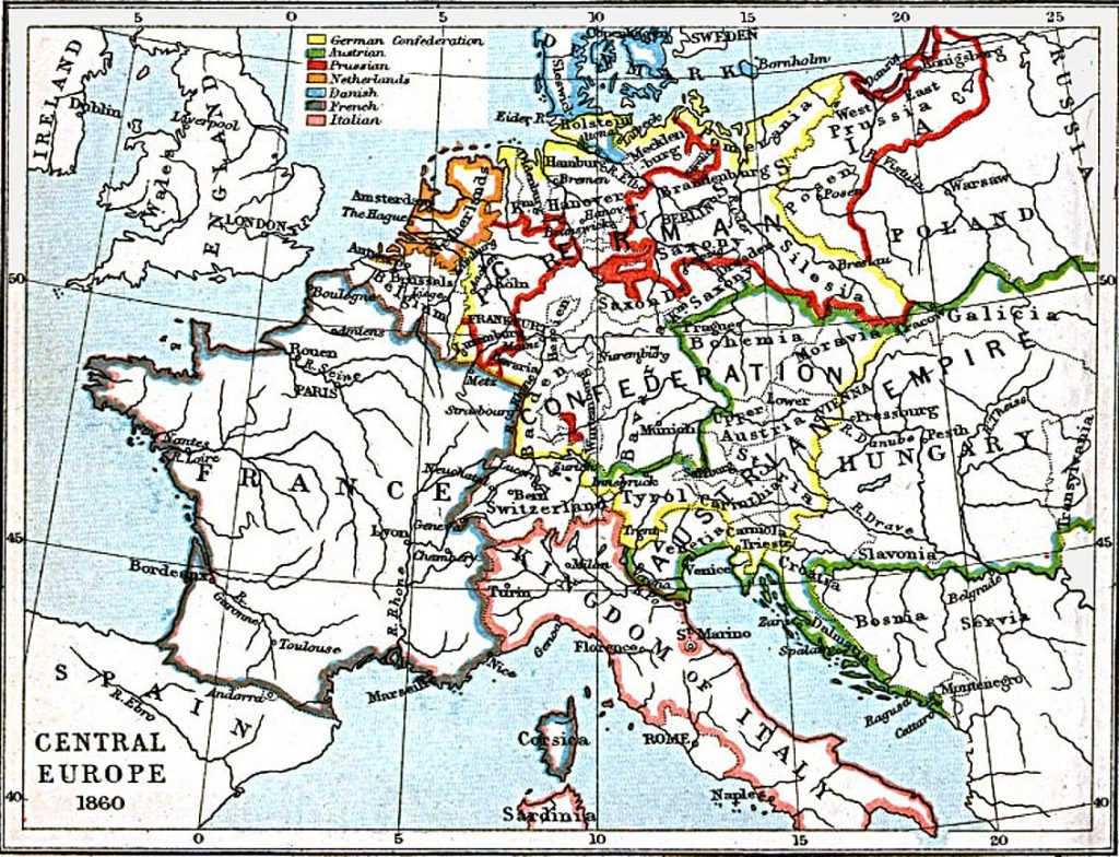 Central Europe in 1860