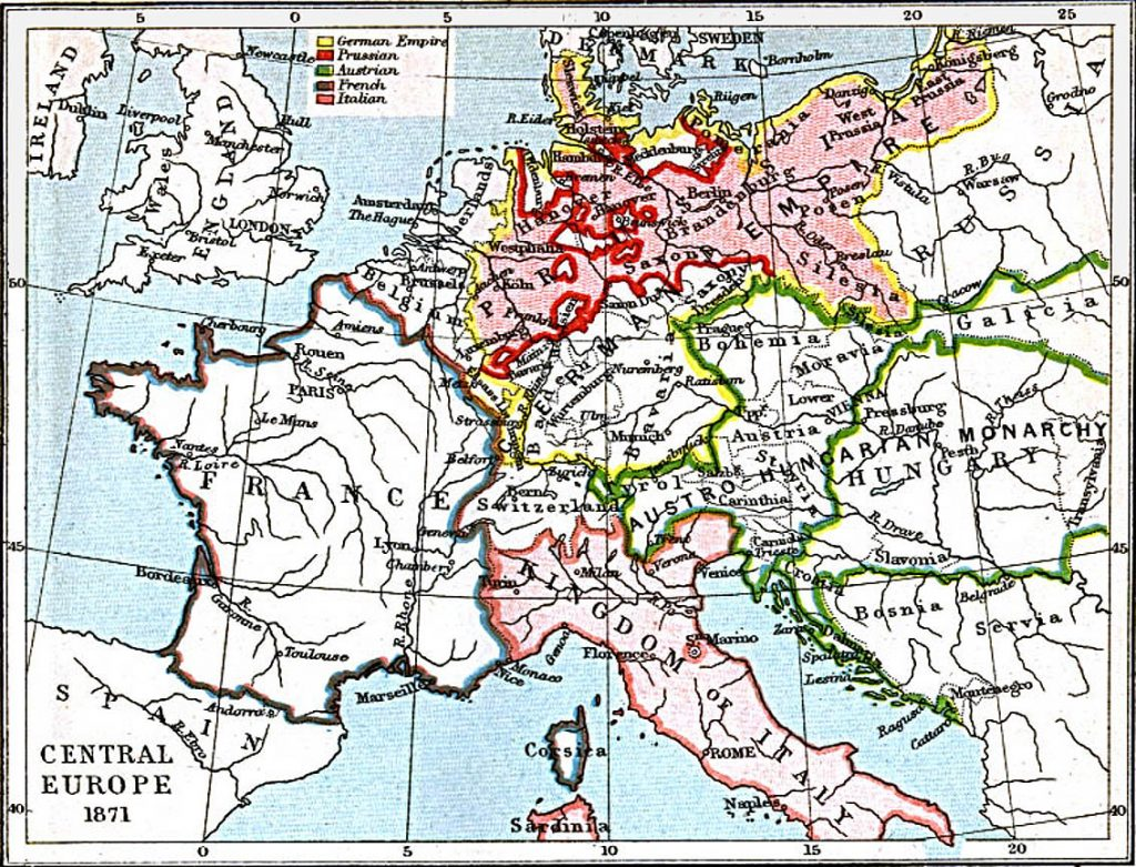 Central Europe in 1871