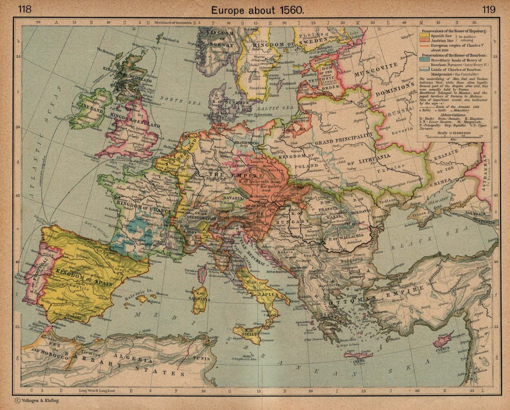 Europe in 1560
