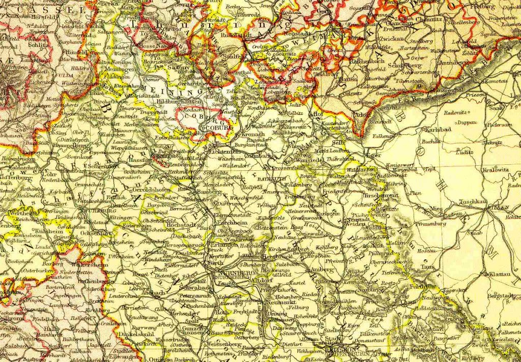 Franconia (Bavaria) in 1860