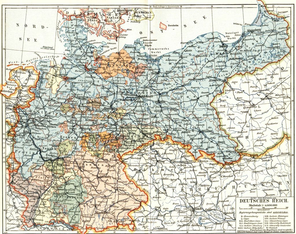 German Empire between 1880 and 1896