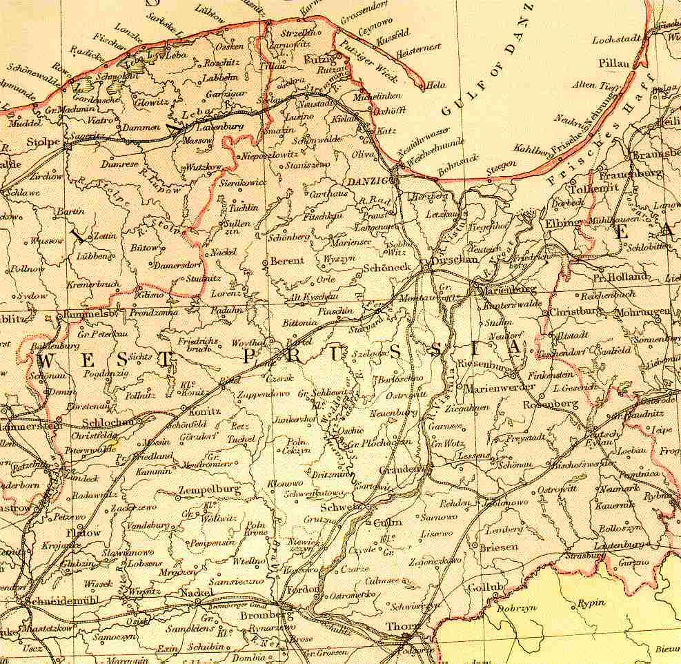 Westpreussen (West Prussia) in 1871