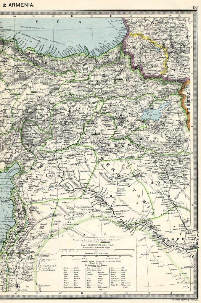 Asia Minor and Armenia East 1908