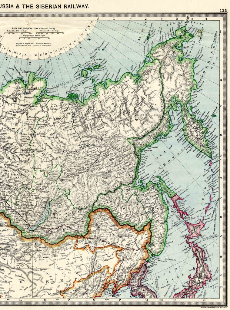 Asiatic Russia (Siberia) East 1908 - High Resolution