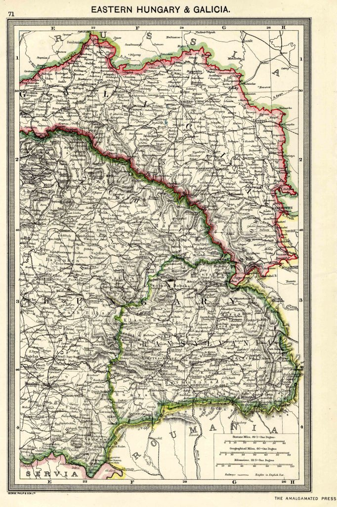 Eastern Hungary and Galicia 1908