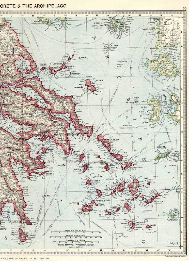 Greece East 1908 - High Resolution