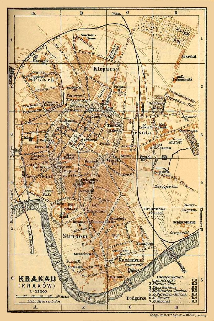 Krakau (Krakow) city plan, 1890s | FEEFHS on jiangmen city map, venice map, wawel castle map, paris charles de gaulle map, poland map, poznan map, moscow map, bregenz austria map, naples map, kovno map, malopolska map, mielec map, stettin map, transilvania map, carpathian mountains map, singapore hotel map, cracovia polonia map, gdansk map, sarajevo map, milan map,