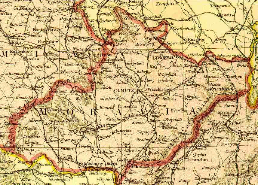 From Blackie & Sons Atlas (Edinburgh, 1882), Scale: 1:2,700,000 (or one inch = about 42 miles)
