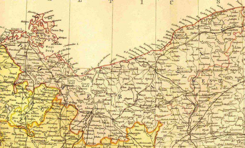 Map Of Germany 1871.Pommern Pomerania Prussia 1882 Feefhs