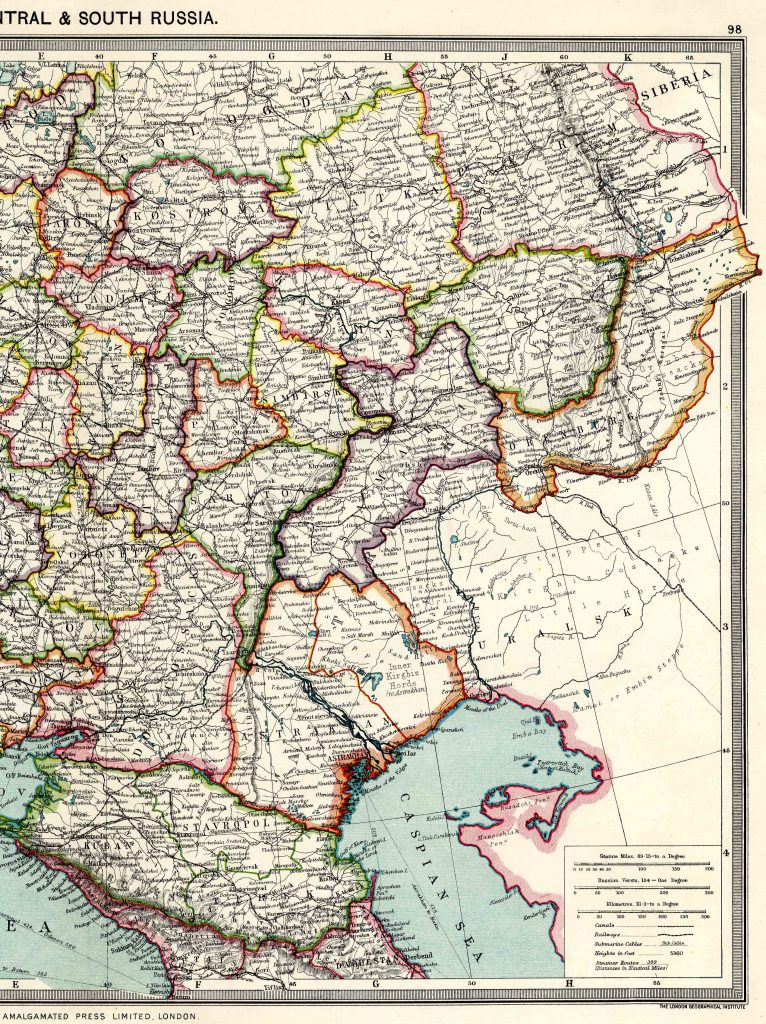 Central and South Russia - East 1908 - High Resolution