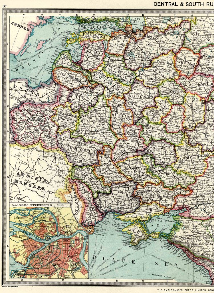 Central and South Russia - West 1908