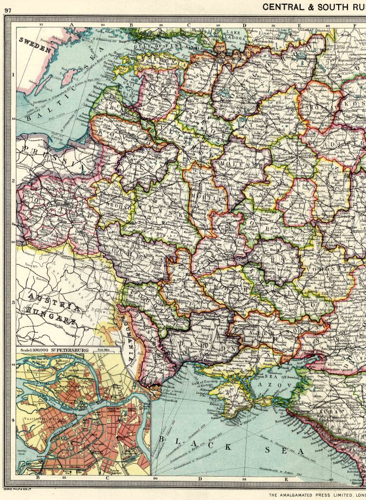 Central and South Russia - West 1908 - High Resolution