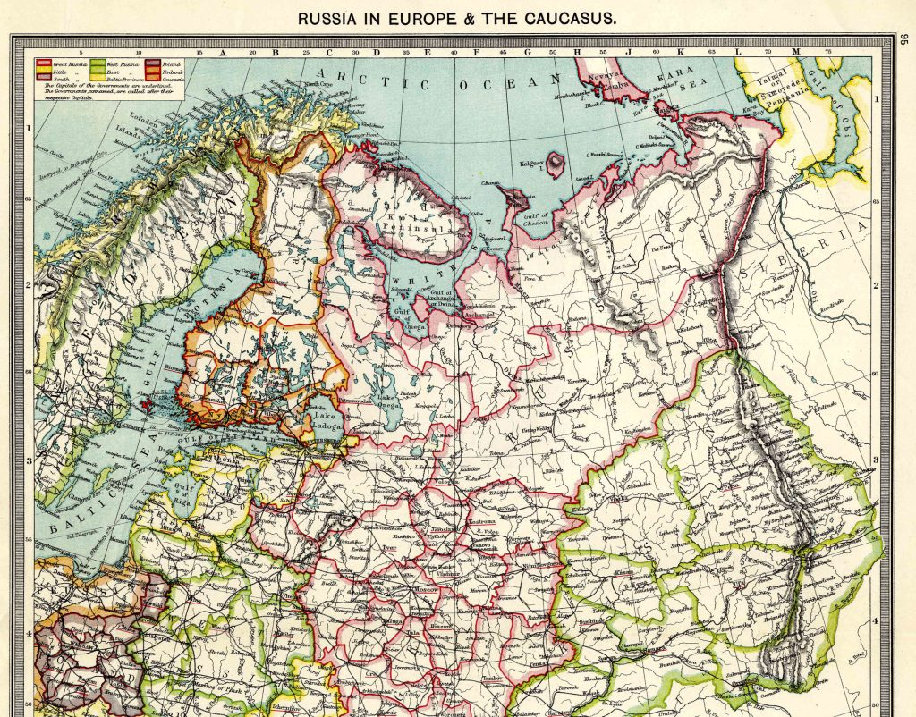 Russia in Europe - North 1908