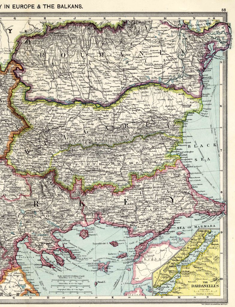 Turkey in Europe East 1908
