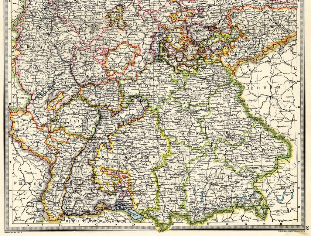 Western Germany South 1908