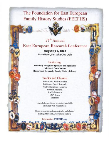 2020 FEEFHS Conference Flyer